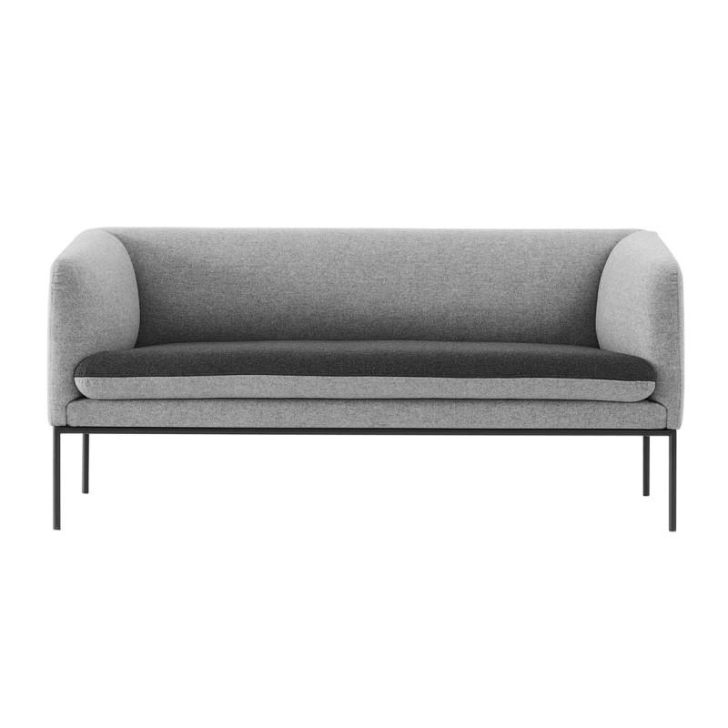 Sofa turn algodon gris oscuro ferm living for Sofa gris oscuro