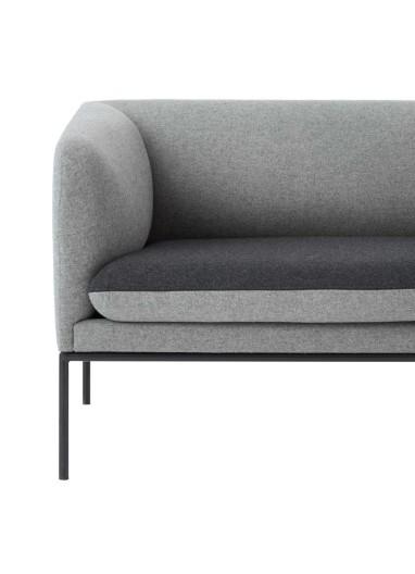 Sofa Turn 3 Algodon Gris Oscuro Ferm Living