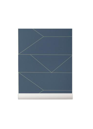 Papel Pintado Lines Azul Oscuro Ferm Living