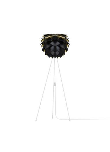 Lámpara Silvia Negra de suelo