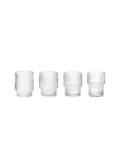 Set de Vasos de cristal Ripple de Ferm Living