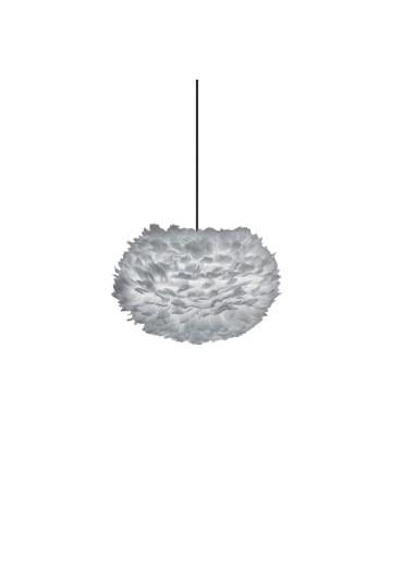Lámpara plumas gris de techo