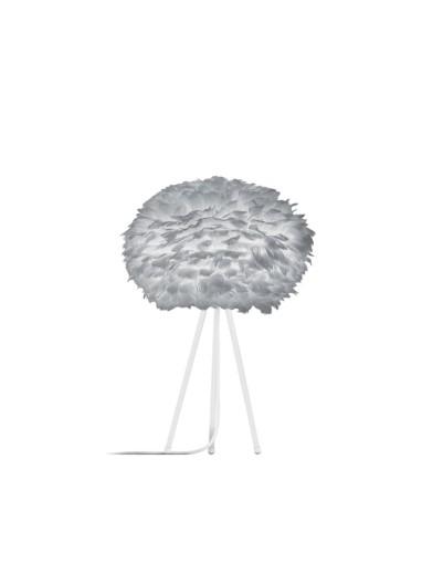 Lámpara plumas gris de mesa