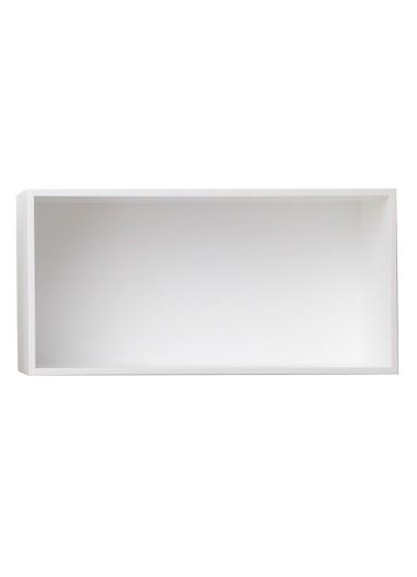 Estante Mini Stacked Large white con fondo Muuto