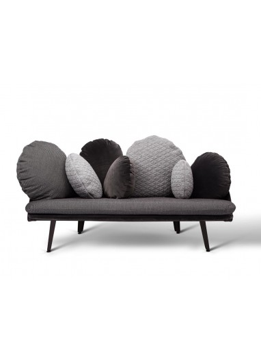 Sofá Nubilo negro/gris de Petite Friture