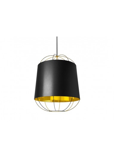 Lámpara Lanterna black/gold M Petite Friture
