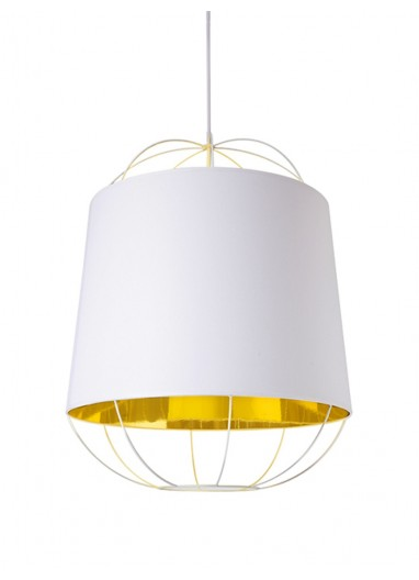 Lámpara Lanterna white/gold M Petite Friture