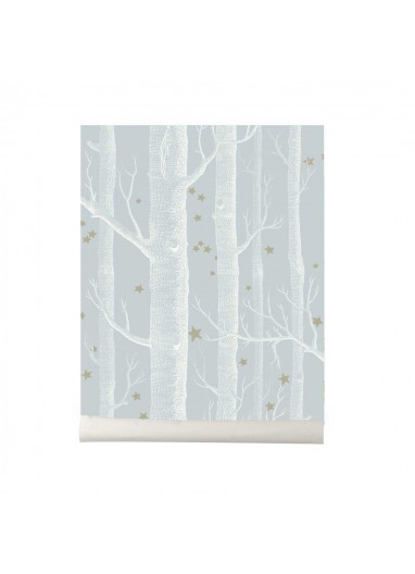 Papel pintado Wood and Stars light blue Cole and Son