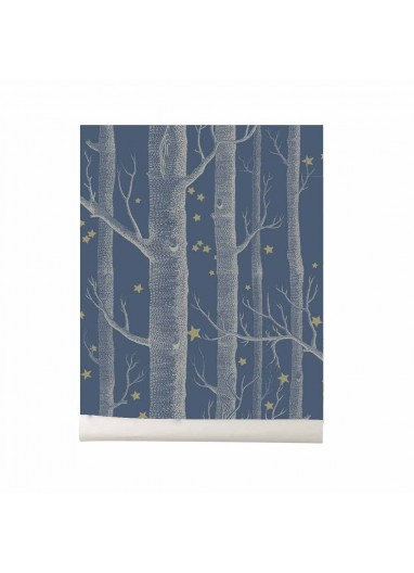 Papel pintado Wood and Stars dark blue Cole and Son