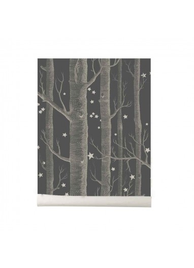 Papel pintado Wood and Stars dark grey Cole and Son