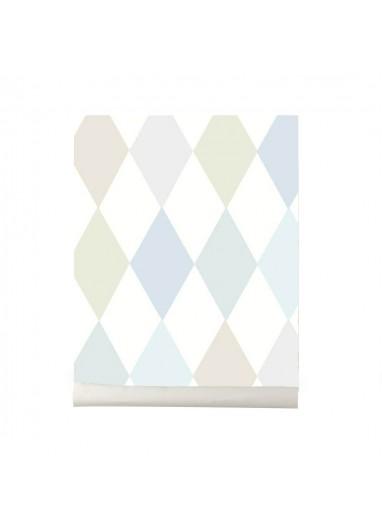 Papel pintado Puchinello blue pastel Cole and Son