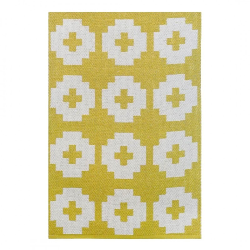 Vinyl rug Flower Yellow 70x100 Brita Sweden for the kids