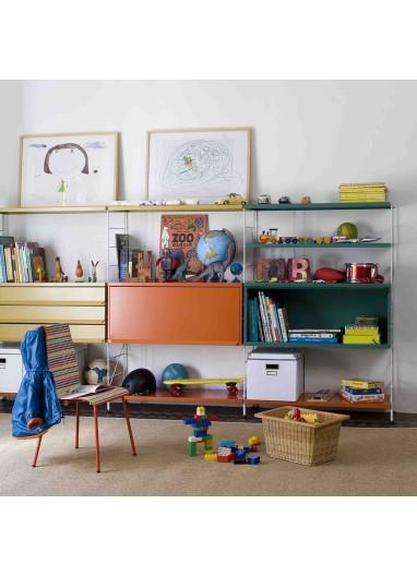 Estante de acero pintado naranja 60 cm Tria 24 Mobles114