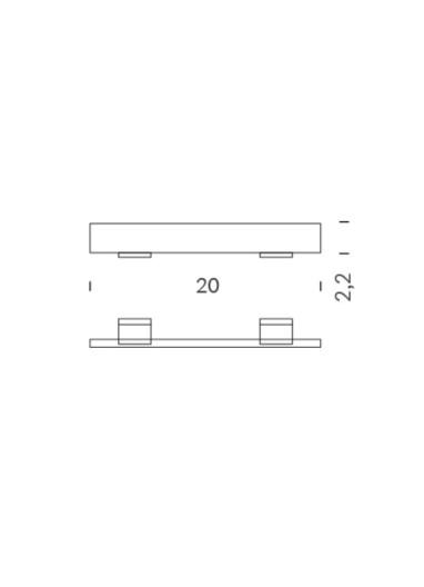 Señalizador transparente para estante de acero Tria 24 Mobles114