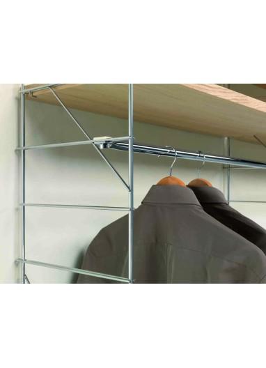 Soporte lateral acero cromado 37cm Tria36 Mobles114