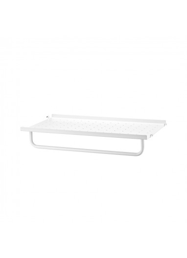Metal Shelf Low Edge White 58x30 String