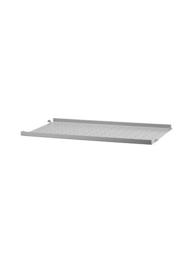Metal Shelf Low Edge Grey 58x30 String