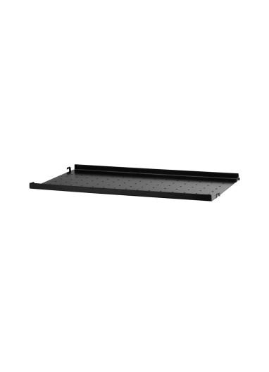 Metal Shelf Low Edge Black 58x30 String