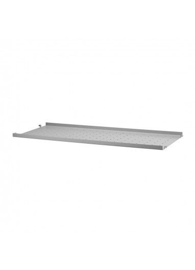 Metal Shelf Low Edge Grey 78x30 String