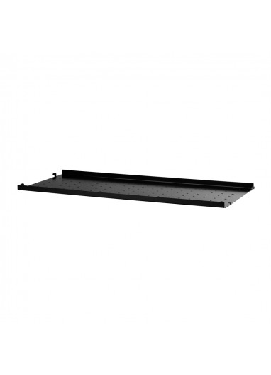 Metal Shelf Low Edge Black 78x30 String