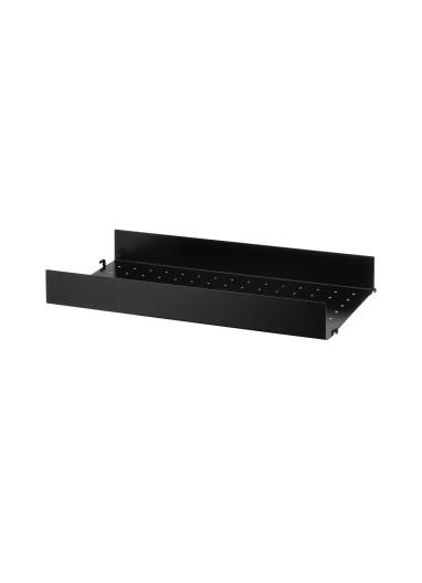 Metal Shelf High Edge Black 58x30 String