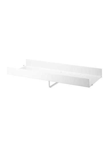 Metal Shelf High Edge White 78x30 String