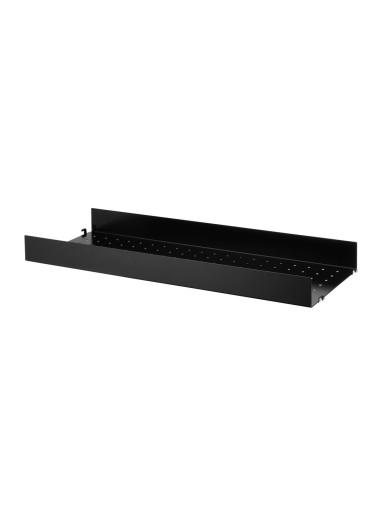 Metal Shelf High Edge Black 78x30 String