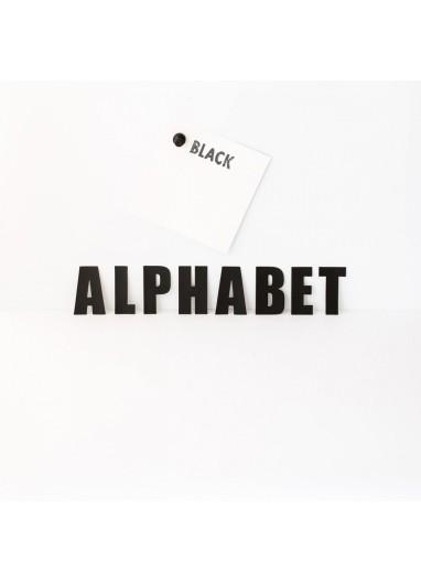 Alphabet Black Groovy Magnets