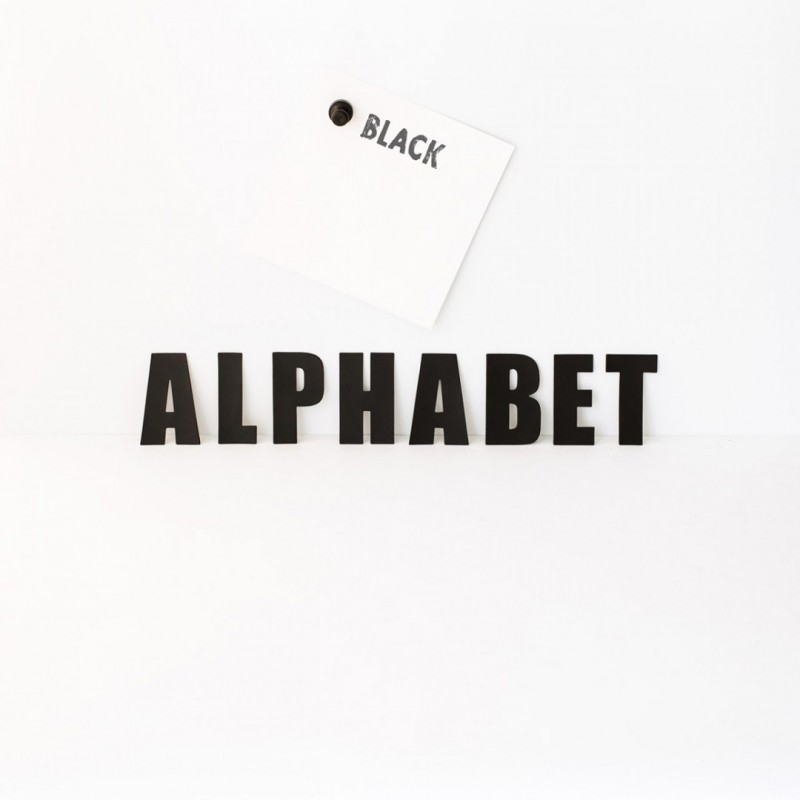 Alphabet Black Groovy Magnets