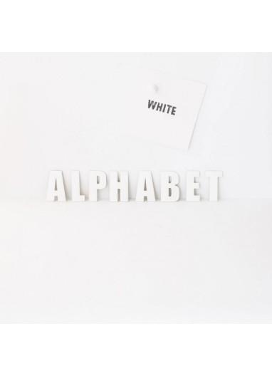 Alphabet White Groovy Magnets