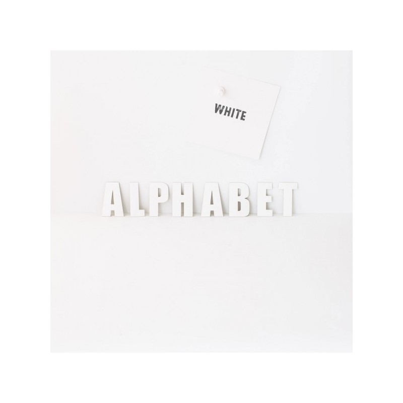 Alphabet White Groovy Magnets
