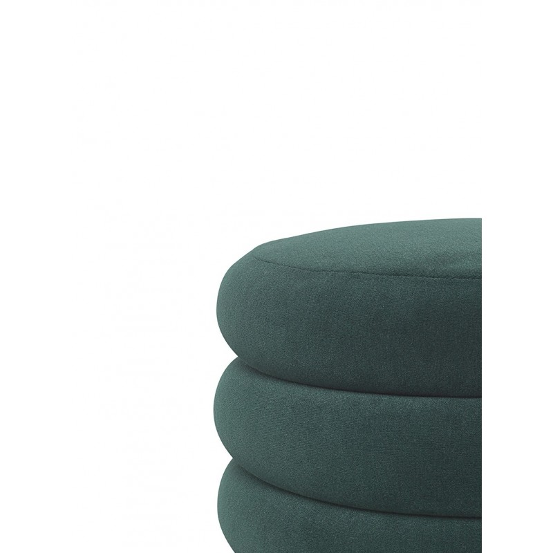 Puff Oval mediano verde oscuro Ferm Living