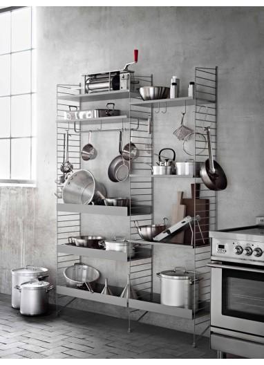 Floor panel String 200x30cm grey