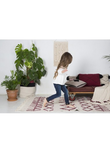 Washable Rug Bereber burgundy Lorena Canals