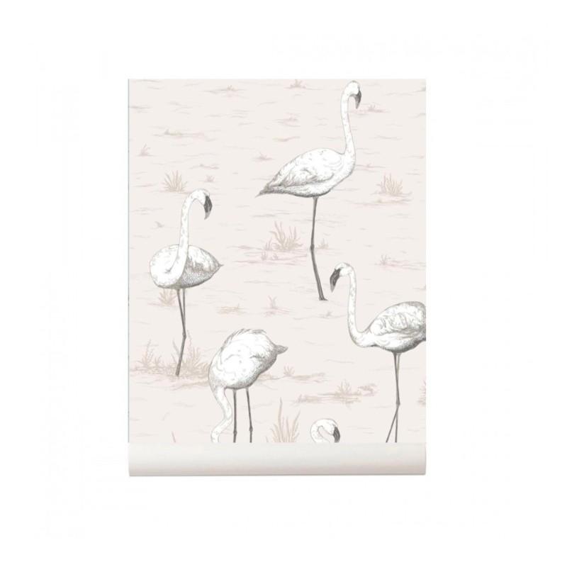 Papel pintado Flamingos natural Cole and Son Colección Contemporary Restyled 95/8046