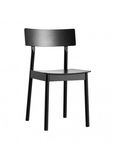 Pause Dining Chair White pigmented lacquer WOUD