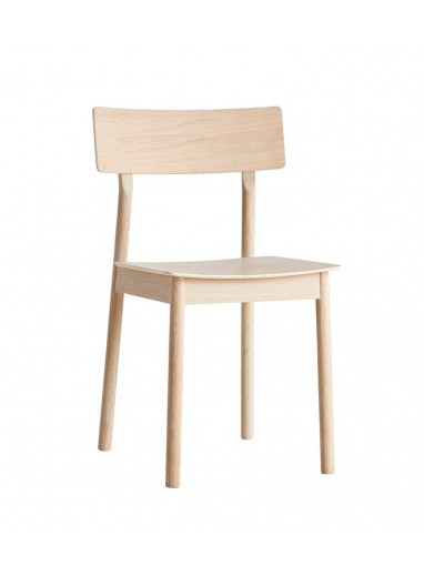 Pause Dining Chair White pigmented lacquered WOUD