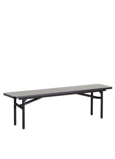 Diagonal bench Black WOUD