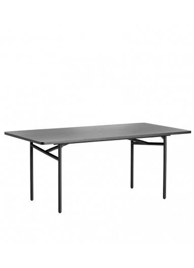 Diagonal dining table Black WOUD