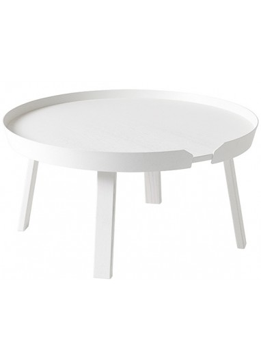 Mesa auxiliar Around white large Muuto