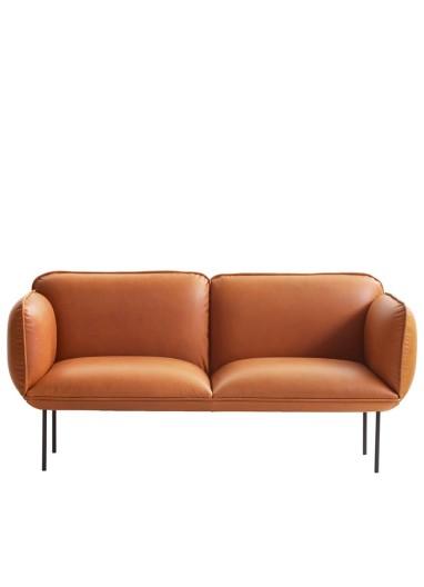 Sofa Nakki 2P piel varios colores WOUD