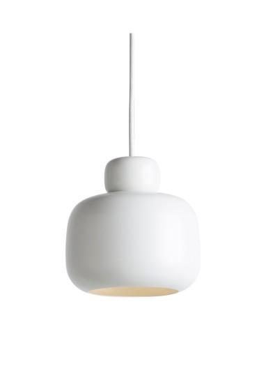 Stone pendant light small white WOUD