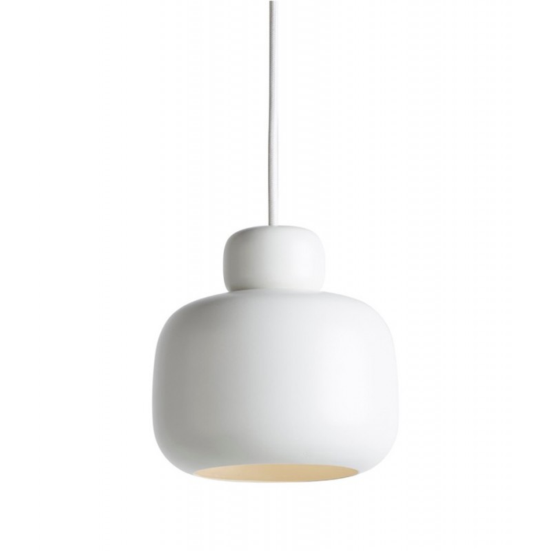 Stone pendant light small white WOUD  sc 1 st  Toc Toc Living & Stone pendant lamp by Woud is perfect for stylish nordic bedrooms
