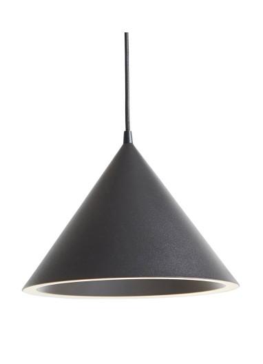 Annular pendant light black S WOUD