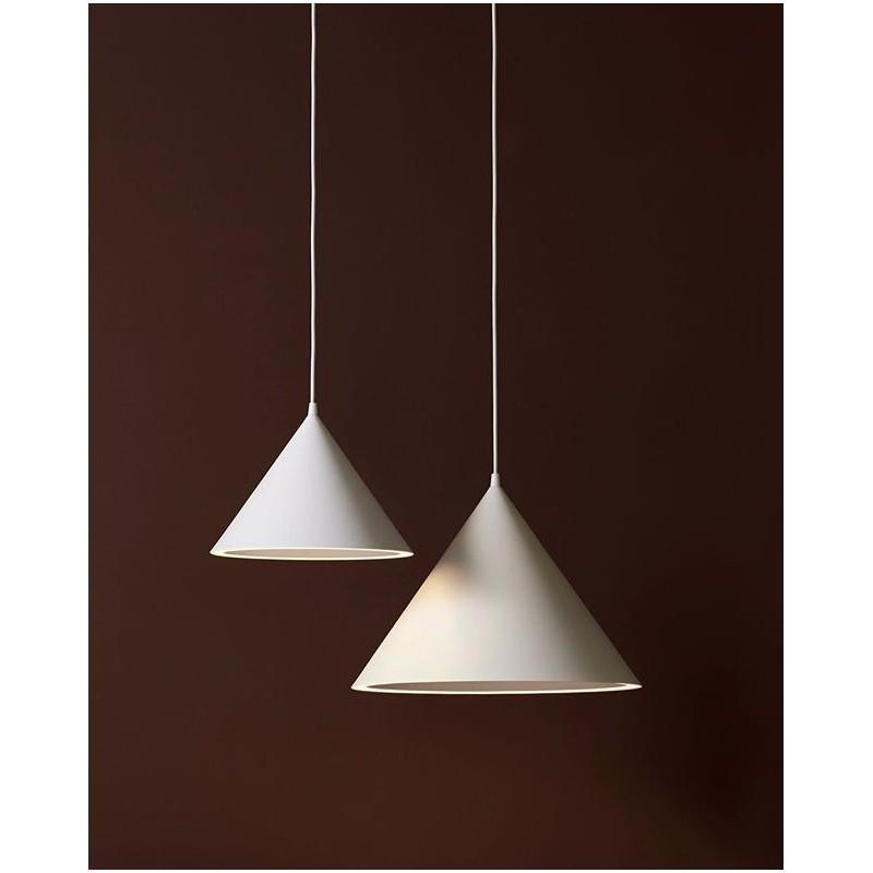 Annular pendant light white S WOUD
