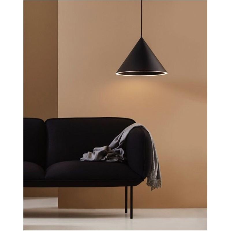 Annular pendant light black L WOUD