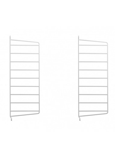 2 pack wall side panel white 50x20cm String System Furniture