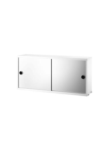 Cabinet sliding mirror white 78x20cm String