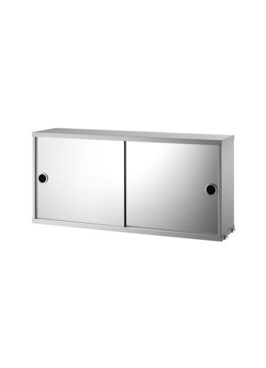 Cabinet sliding mirror grey 78x20cm String