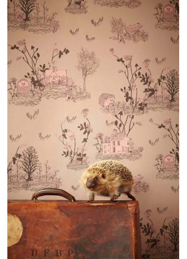 Papel pintado Woodlands marrón rosa Sian Zeng